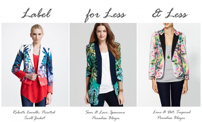 label for less tropical blazer