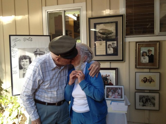 My husband's grandparents at their 70th wedding anniversary party.