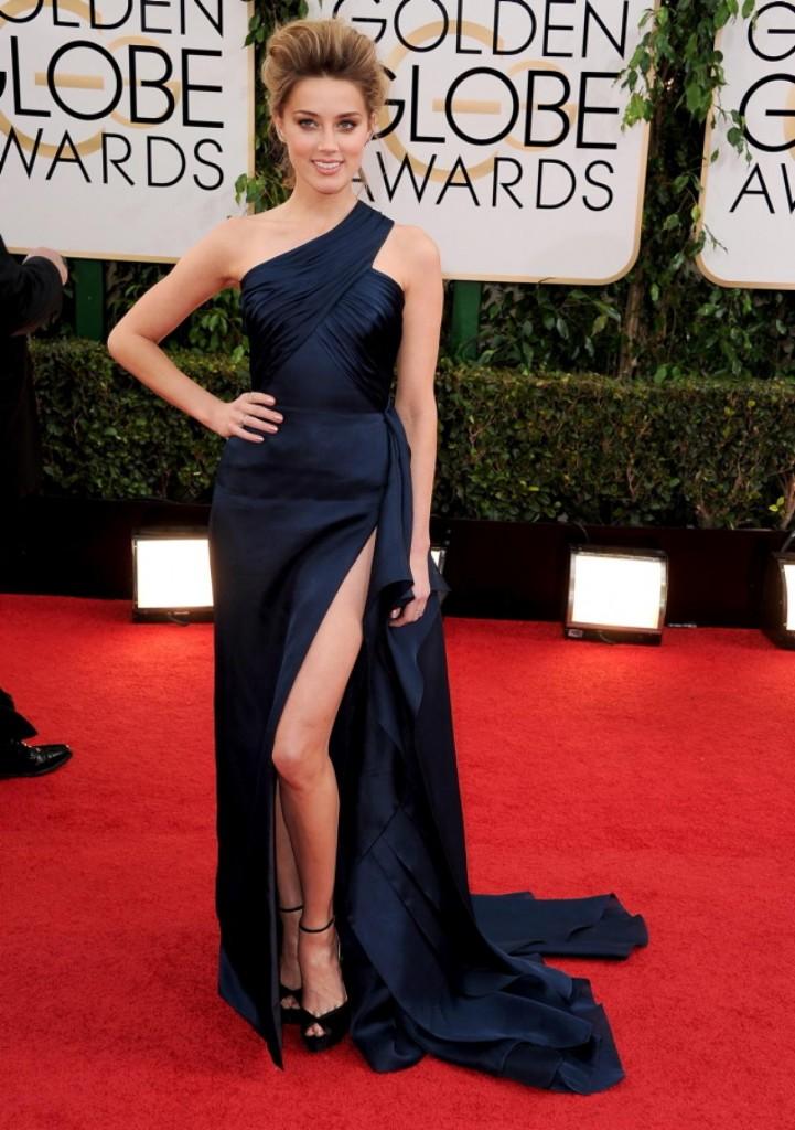 Amber Heard in Versace.