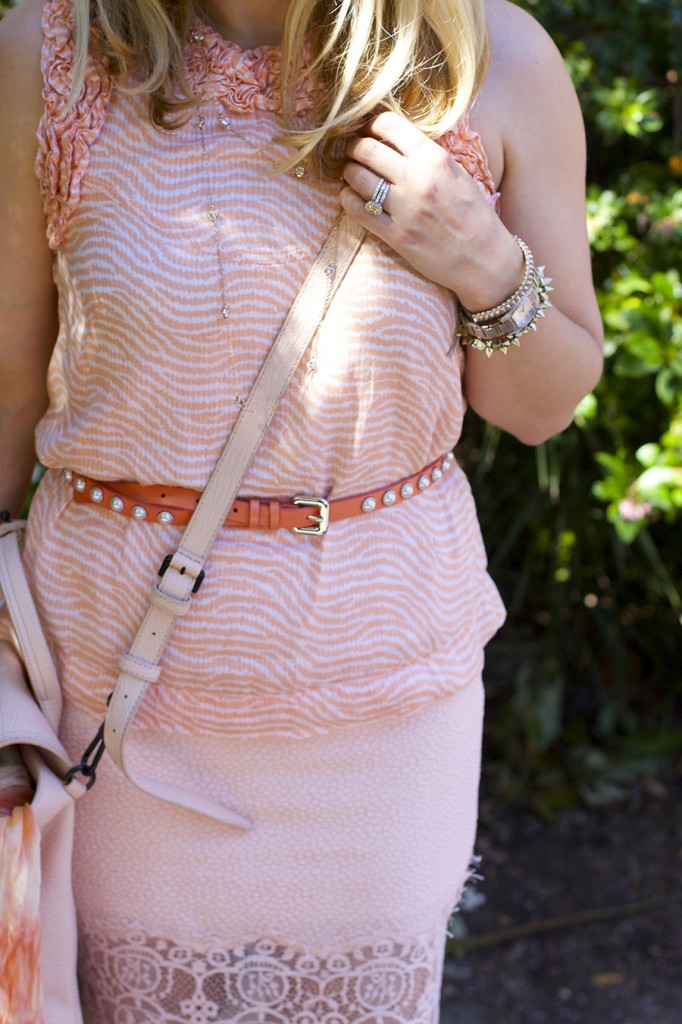 ASTR Rachel Zoe French Connection Peach on Peach Fashion Blogger Monotone Outfit 2
