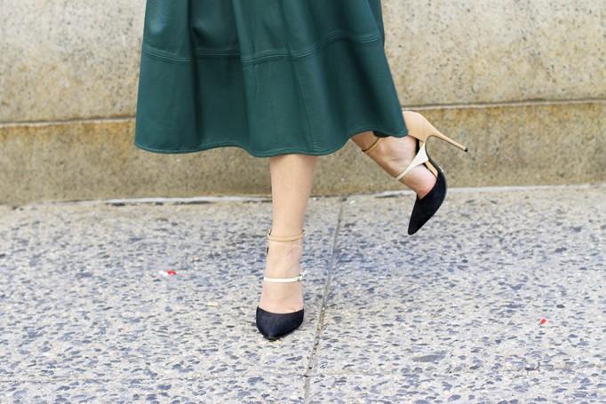 Animal print crop top-NYFW-tibi leather skirt-Schutz-Outfit inspiration 3