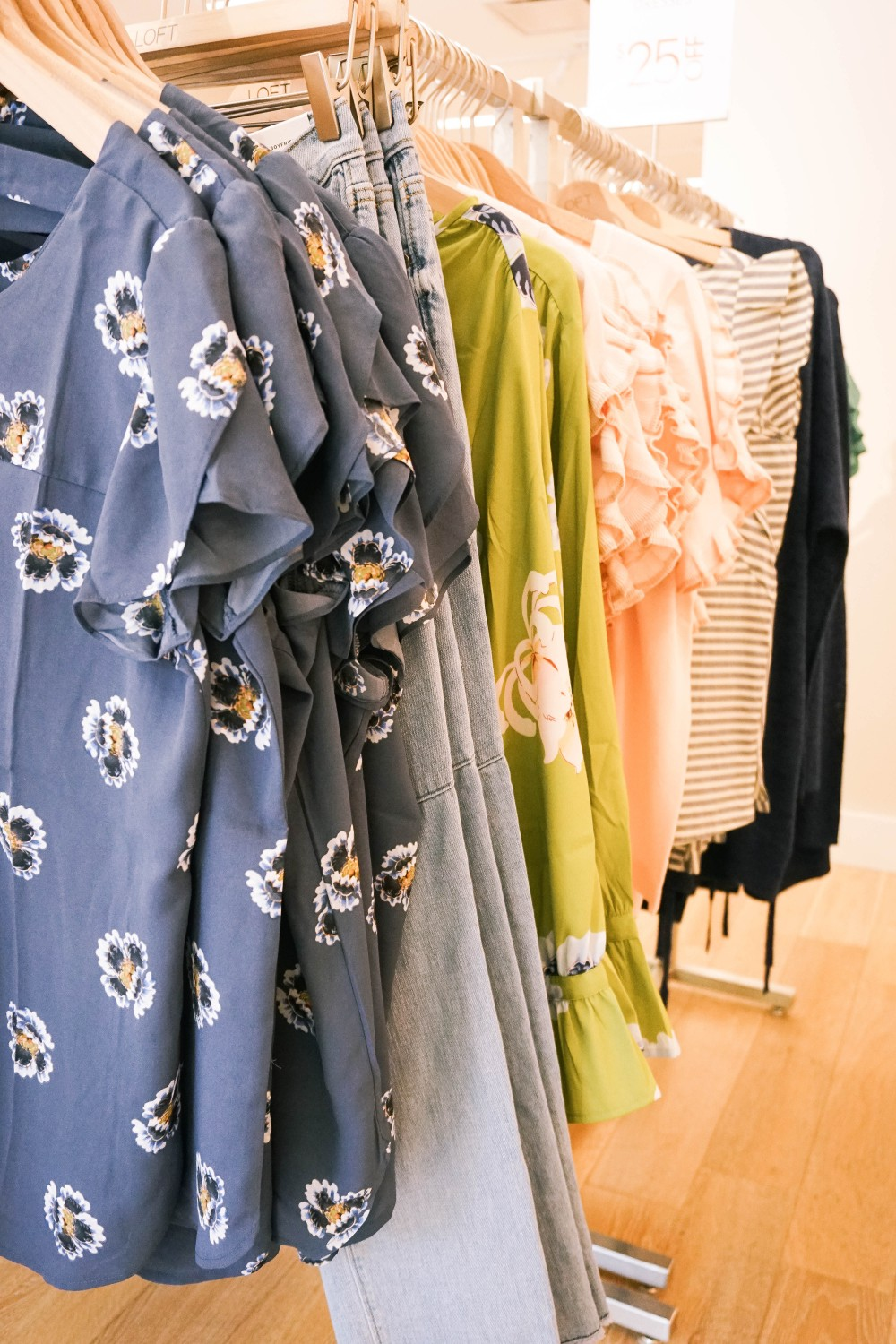 Back to School Shopping-Ann Taylor LOFT-Fall Floral Tops-Ruffle Sleeve Details