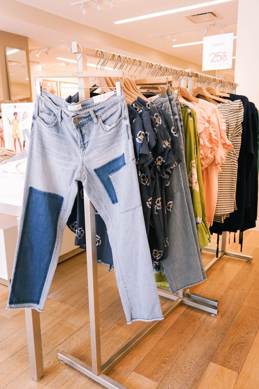 Back to School Shopping-Ann Taylor LOFT-Patchwork Denim