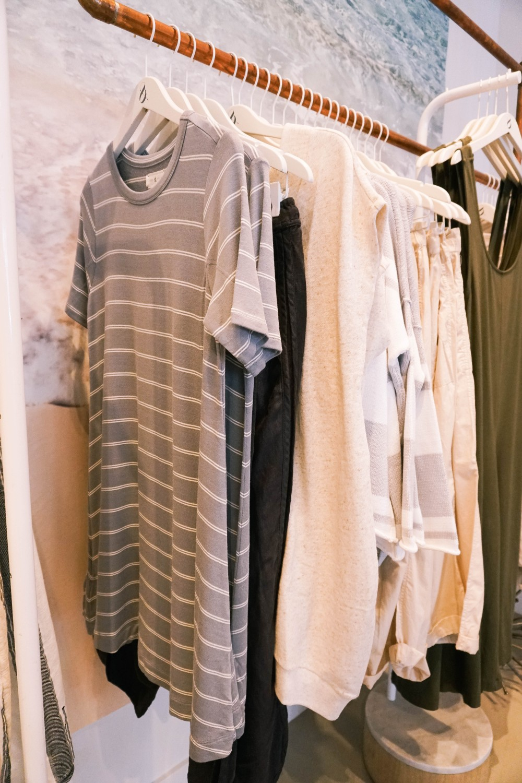 Back to School Shopping-Lou & Grey-Grey Stripe Swing Dress