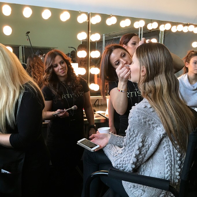 Backstage at Pamella Roland-Hair and Makeup-Behind the Scenes-NYFW Models 2