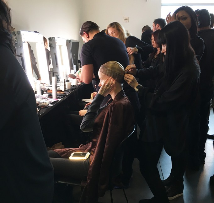 Backstage at Pamella Roland-Hair and Makeup-Behind the Scenes-NYFW Models 4