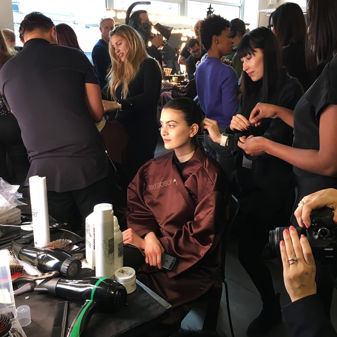 Backstage at Pamella Roland-Hair and Makeup-Behind the Scenes-NYFW Models 5