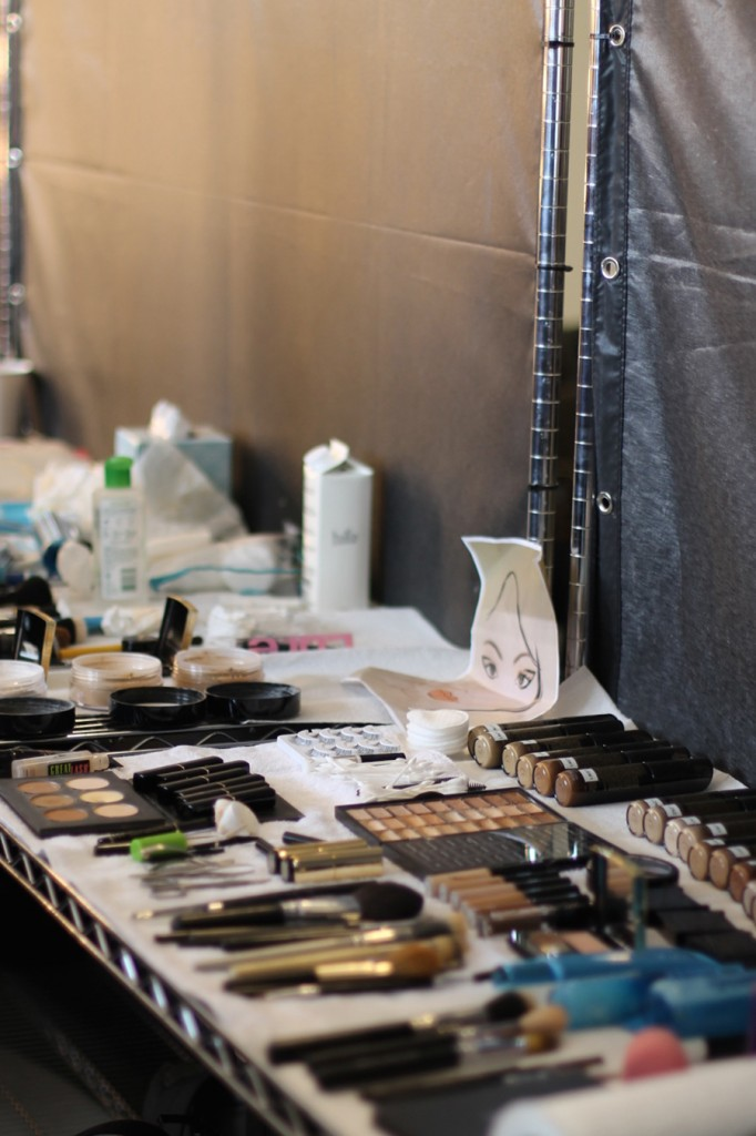 Backstage at Pamella Roland-Hair and Makeup-Behind the Scenes-NYFW Models 6