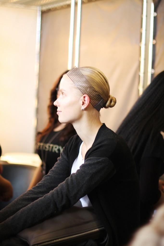 Backstage at Pamella Roland-Hair and Makeup-Behind the Scenes-NYFW Models 8