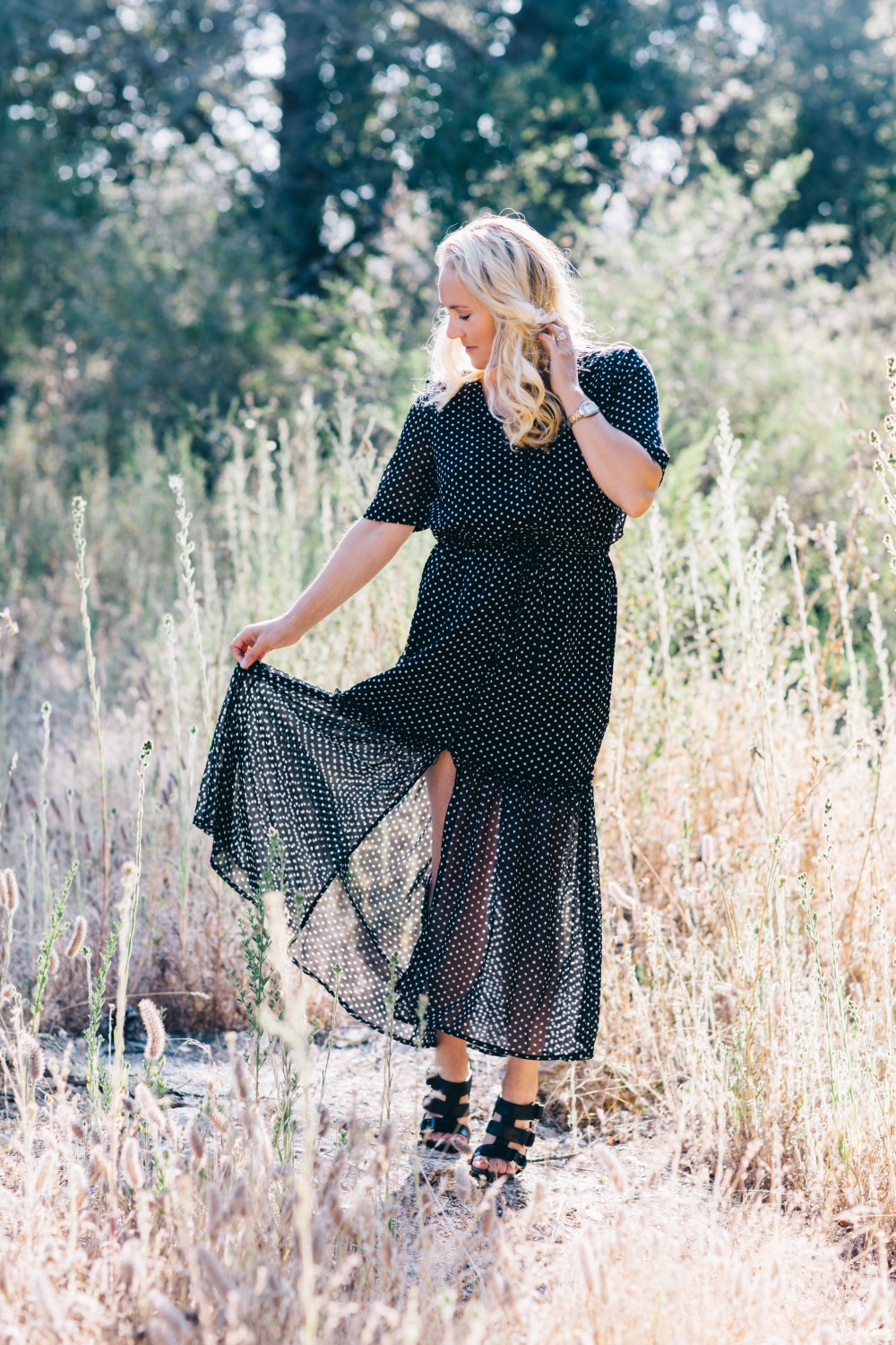 Black and White Polka Dot Maxi Dress-Who What Wear for Target-Target Maxi Dress-Polka Dot Dress-Outfit Inspiration-Bay Area Fashion Blogger-Have Need Want 2