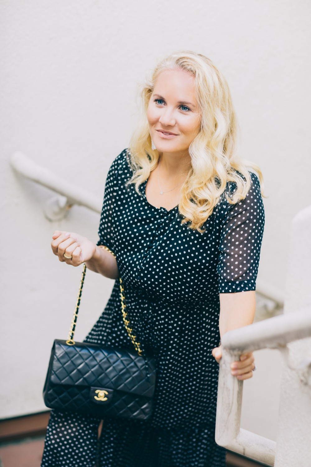 Black and White Polka Dot Maxi Dress-Who What Wear for Target-Target Maxi Dress-Polka Dot Dress-Outfit Inspiration-Bay Area Fashion Blogger-Have Need Want