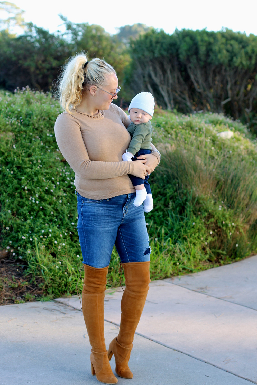 Camel Cut-Out Sweater-Outfit Inspiration-Mom Style-Have Need Want 10