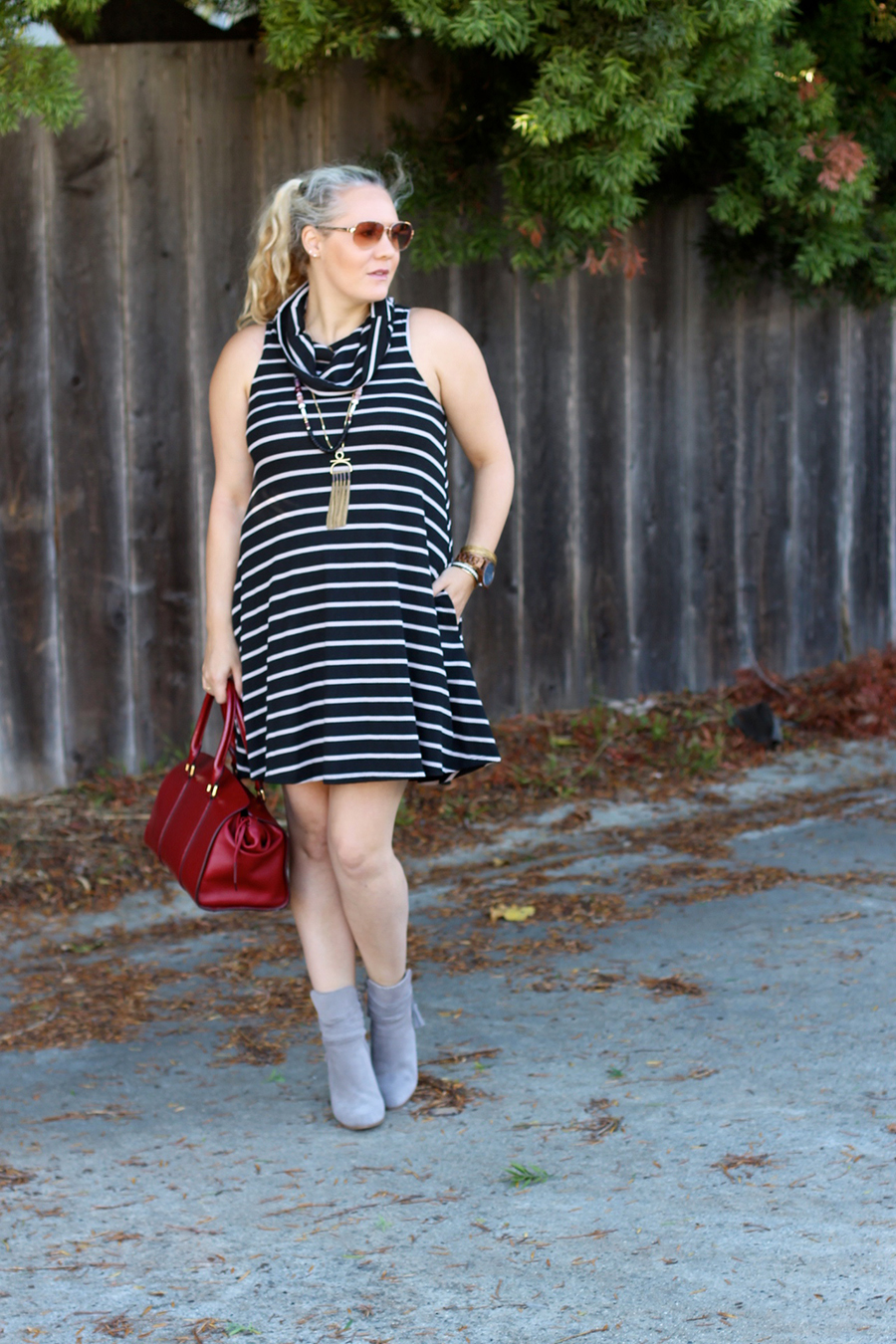 cowl-neck-shift-dress-have-need-want-steve-madden-booties-burberry-handbag-bay-area-fashion-blogger-14
