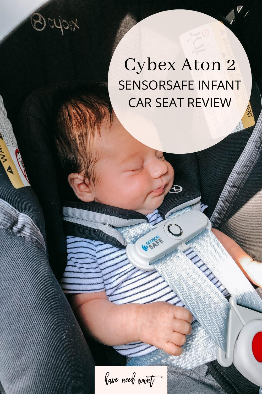 Cybex Aton 2 SensorSafe infant car seat review.