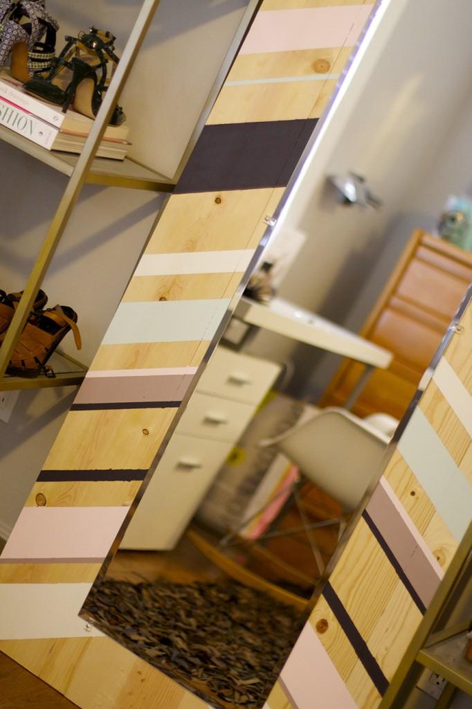 DIY Full Length Mirror Paint Project Valspar Paint Ace Hardware Clark+Kensington Paint Pint Color Samples 10