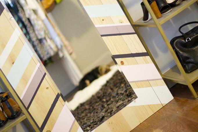 DIY Full Length Mirror Paint Project Valspar Paint Ace Hardware Clark+Kensington Paint Pint Color Samples 12