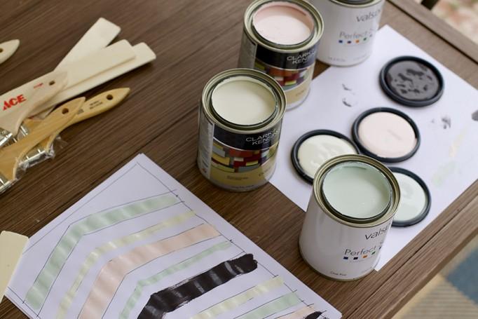DIY Full Length Mirror Paint Project Valspar Paint Ace Hardware Clark+Kensington Paint Pint Color Samples 4