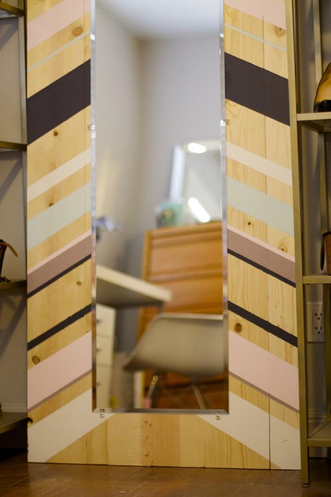 DIY Full Length Mirror Paint Project Valspar Paint Ace Hardware Clark+Kensington Paint Pint Color Samples 9