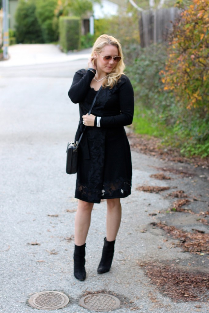 Lace DVF Wrap Dress