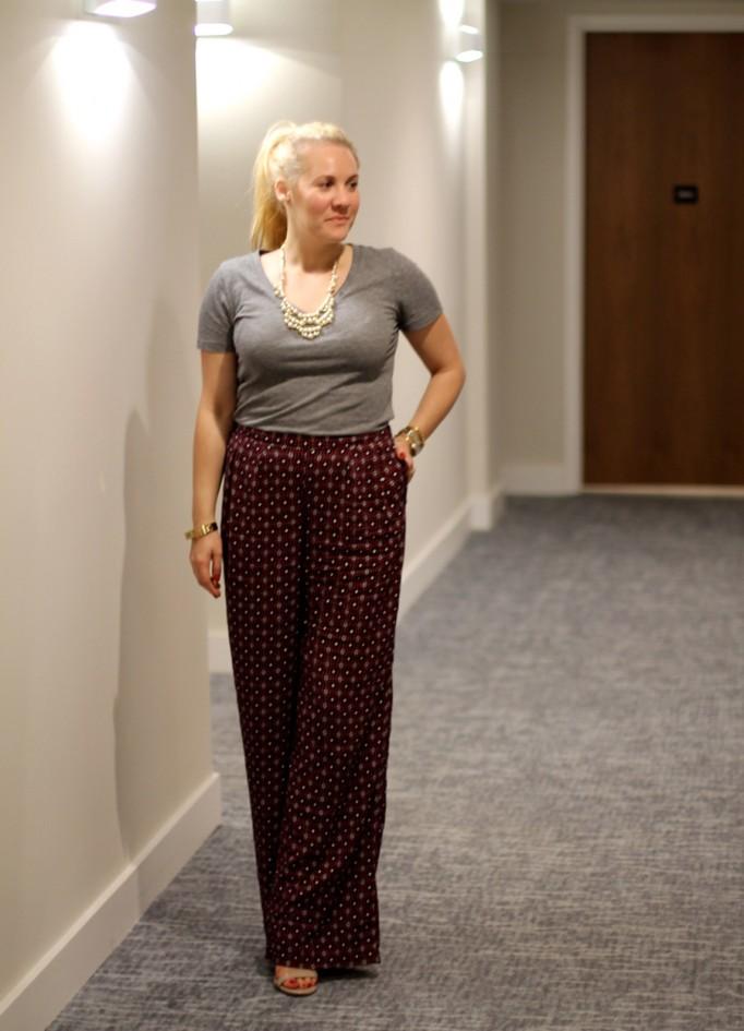 Defy & Inspire Nail Polish-Target Style Beauty-The Final Rose-Perfect Red Nail Polish-Mossimo Print pants 4