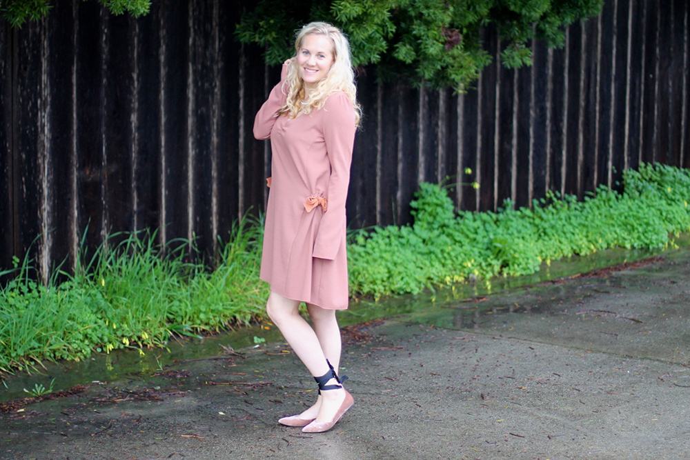 Dusty Pink Dress-See by Chloe-Valentines Day Outfit-Outfit Inspiration-Ankle Tie Flats-Have Need Want 12