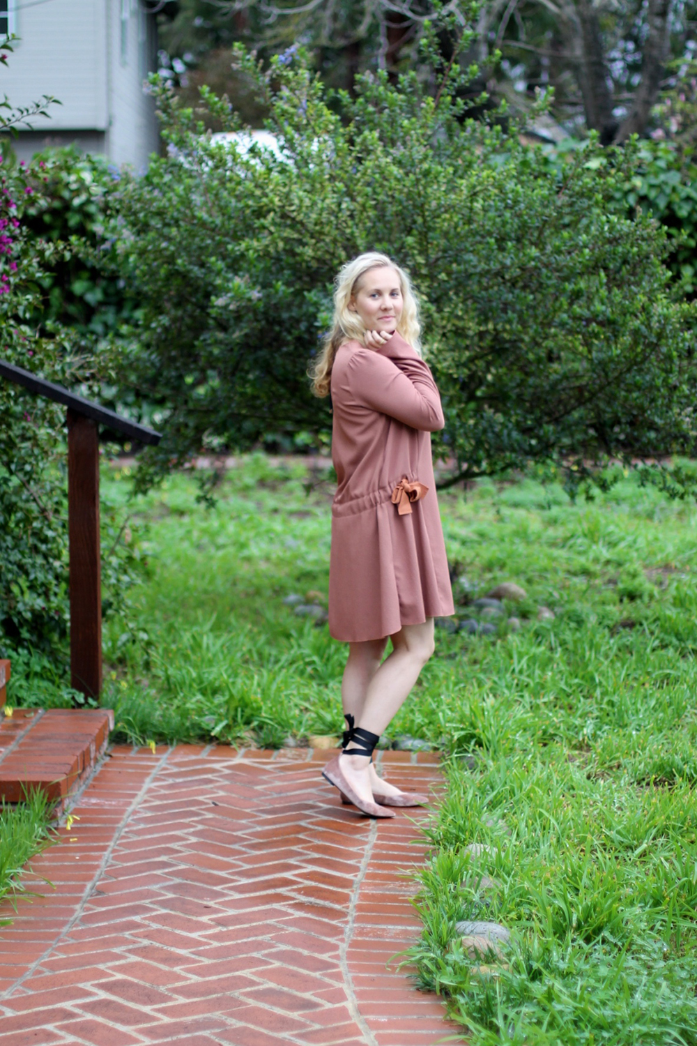 Dusty Pink Dress-See by Chloe-Valentines Day Outfit-Outfit Inspiration-Ankle Tie Flats-Have Need Want 5