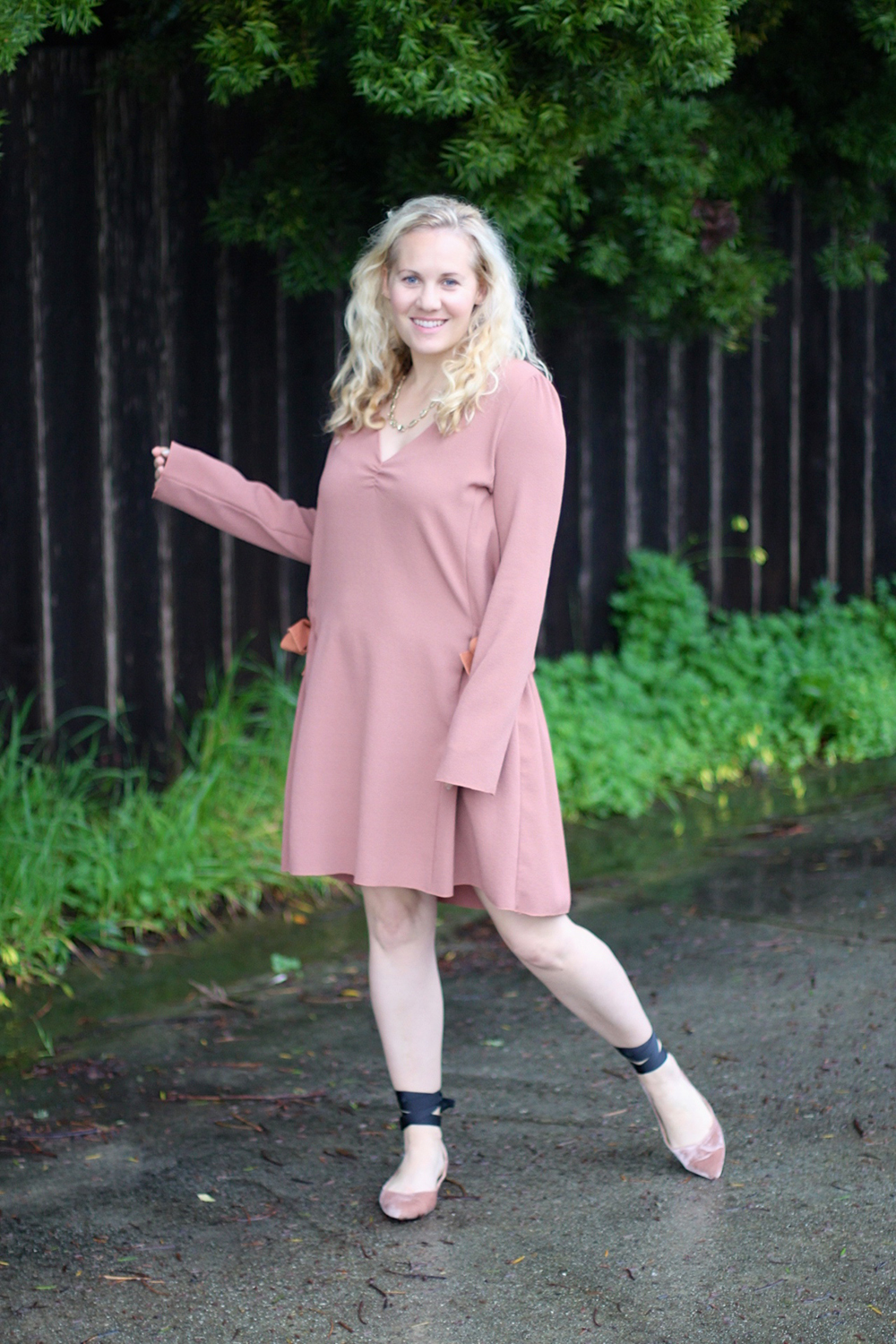 Dusty Pink Dress-See by Chloe-Valentines Day Outfit-Outfit Inspiration-Ankle Tie Flats-Have Need Want 6