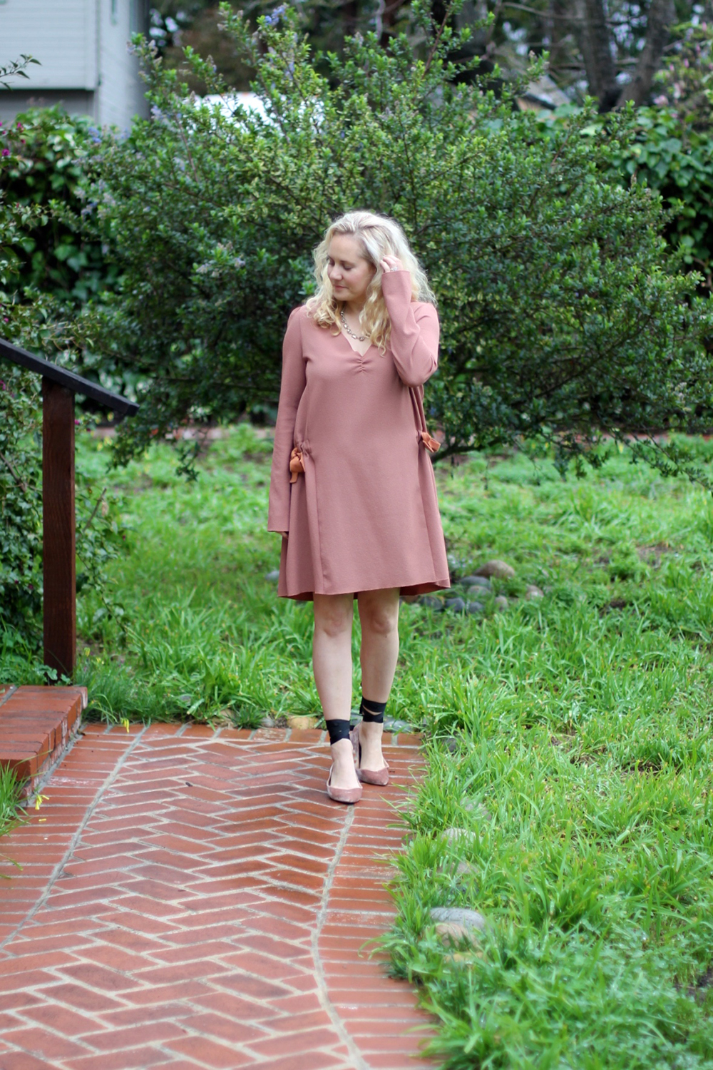 Dusty Pink Dress-See by Chloe-Valentines Day Outfit-Outfit Inspiration-Ankle Tie Flats-Have Need Want 7