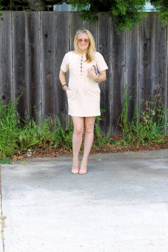 English Factory Lace Up Dress-Bay Area Blogger-Outfit Inspiration-Maternity Style-Stella & Dot Clutch-Summer Style-Pregnancy Style-Have Need Want 7
