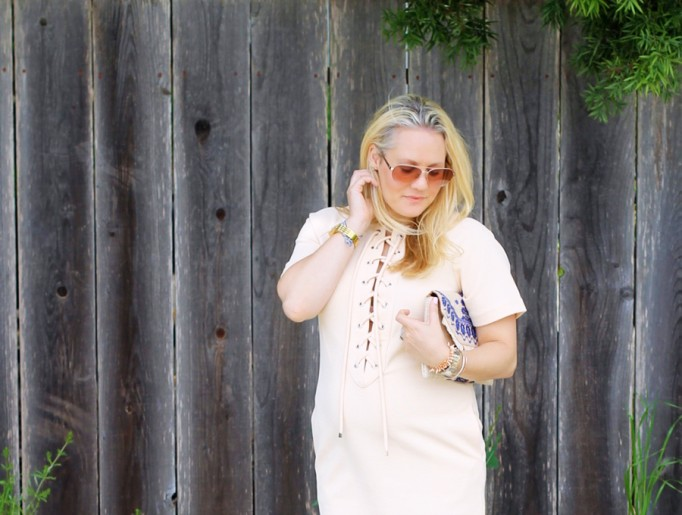 English Factory Lace Up Dress-Bay Area Blogger-Outfit Inspiration-Maternity Style-Stella & Dot Clutch-Summer Style-Pregnancy Style-Have Need Want 8