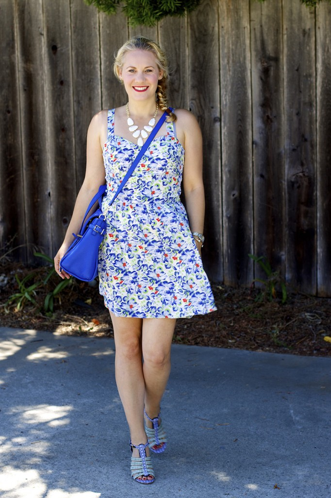Floral Print Summer Dress Joie Clothing Summer Dress Kate Spade Fashion Blogger Summer Style 4
