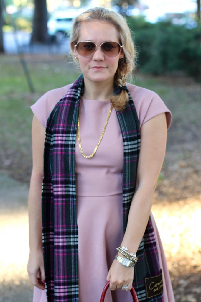 Franco Sarto-Winter Style with ShoeBuy-Tibi dress-Coach-Plaid Scarf-Have Need Want-Outfit Inspiration 3