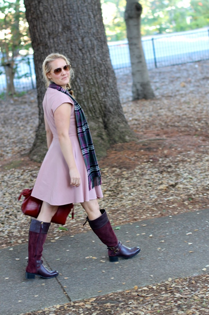 Franco Sarto-Winter Style with ShoeBuy-Tibi dress-Coach-Plaid Scarf-Have Need Want-Outfit Inspiration