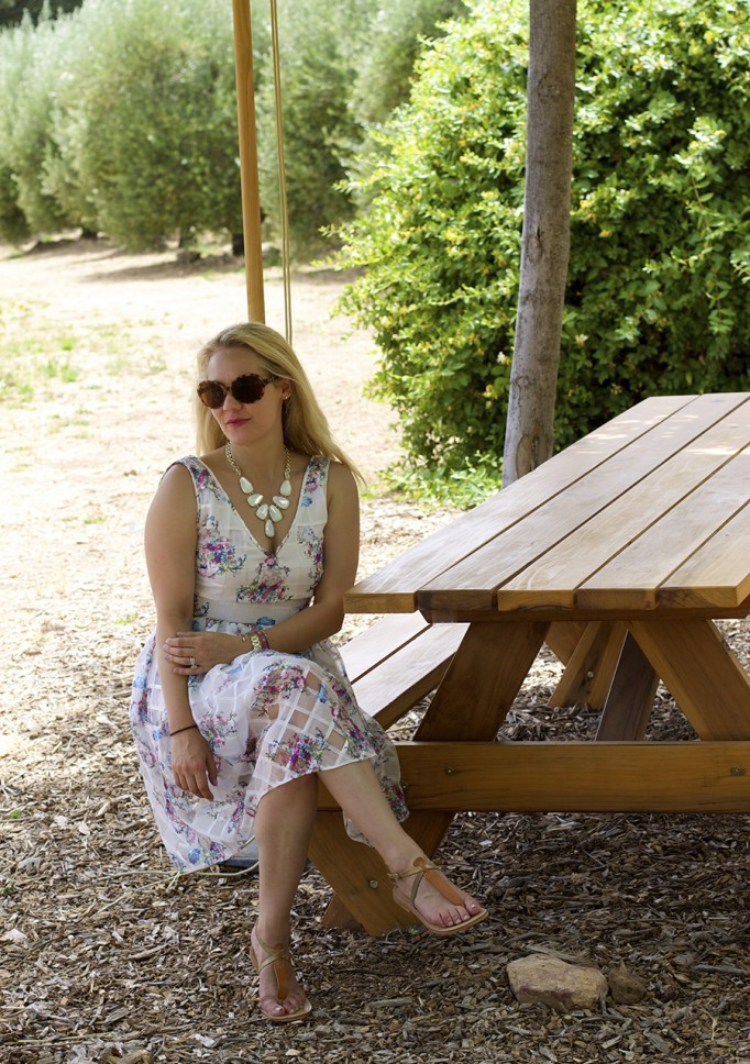 From day to night floral dress erin fetherston outfit inspiration fashion blogger 6