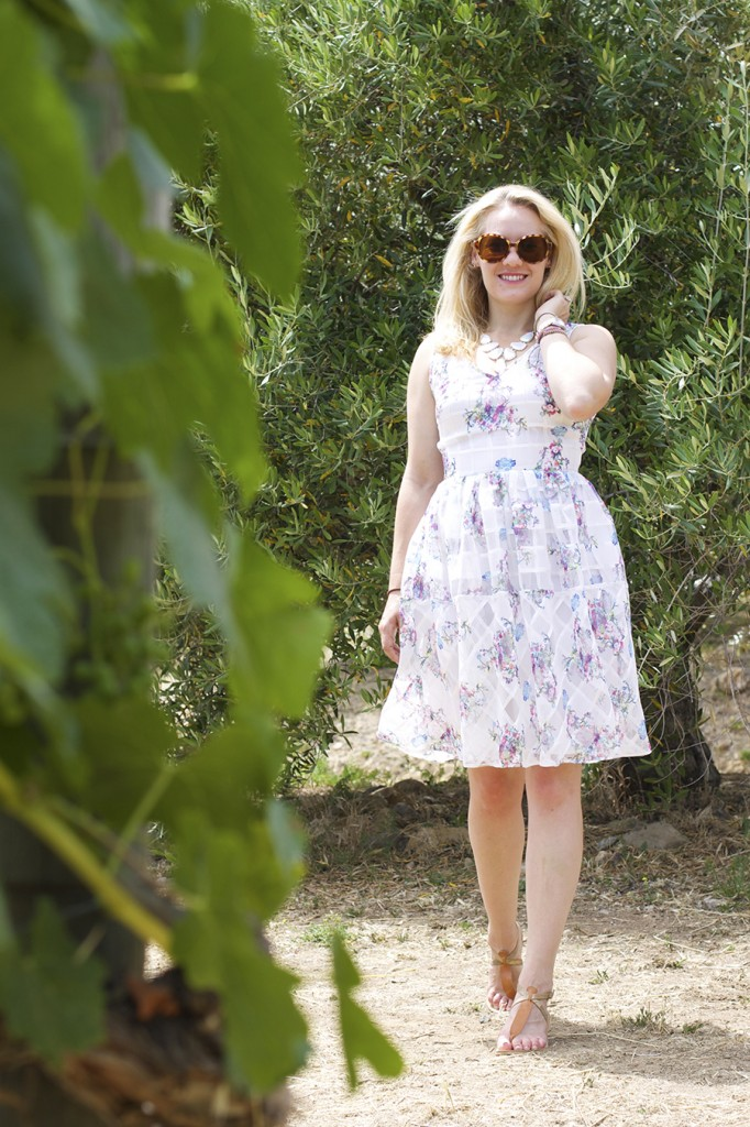 From day to night floral dress erin fetherston outfit inspiration fashion blogger 7