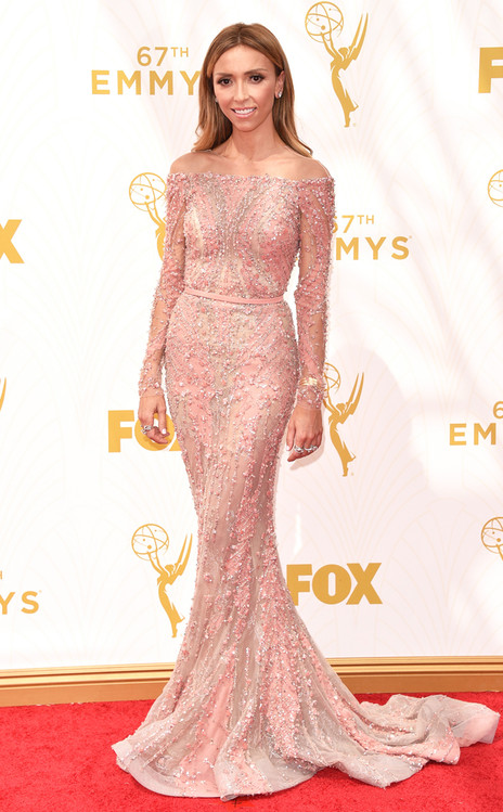 Giuliana Rancic-Zuhair Murad-Forevermark Jewelry-Emmy's Red Carpet-2015 Emmys-Red Carpet Arrivals-Best Dressed