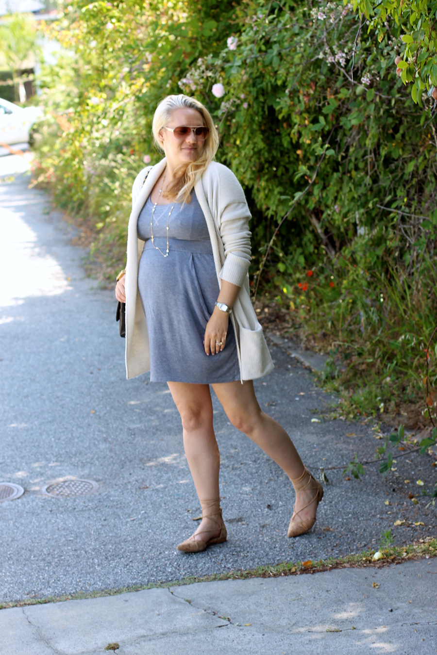 Grey Jersey Mini Dress-Maternity Style-Outfit Inspiration-Pregnancy Style-Have Need Want 12