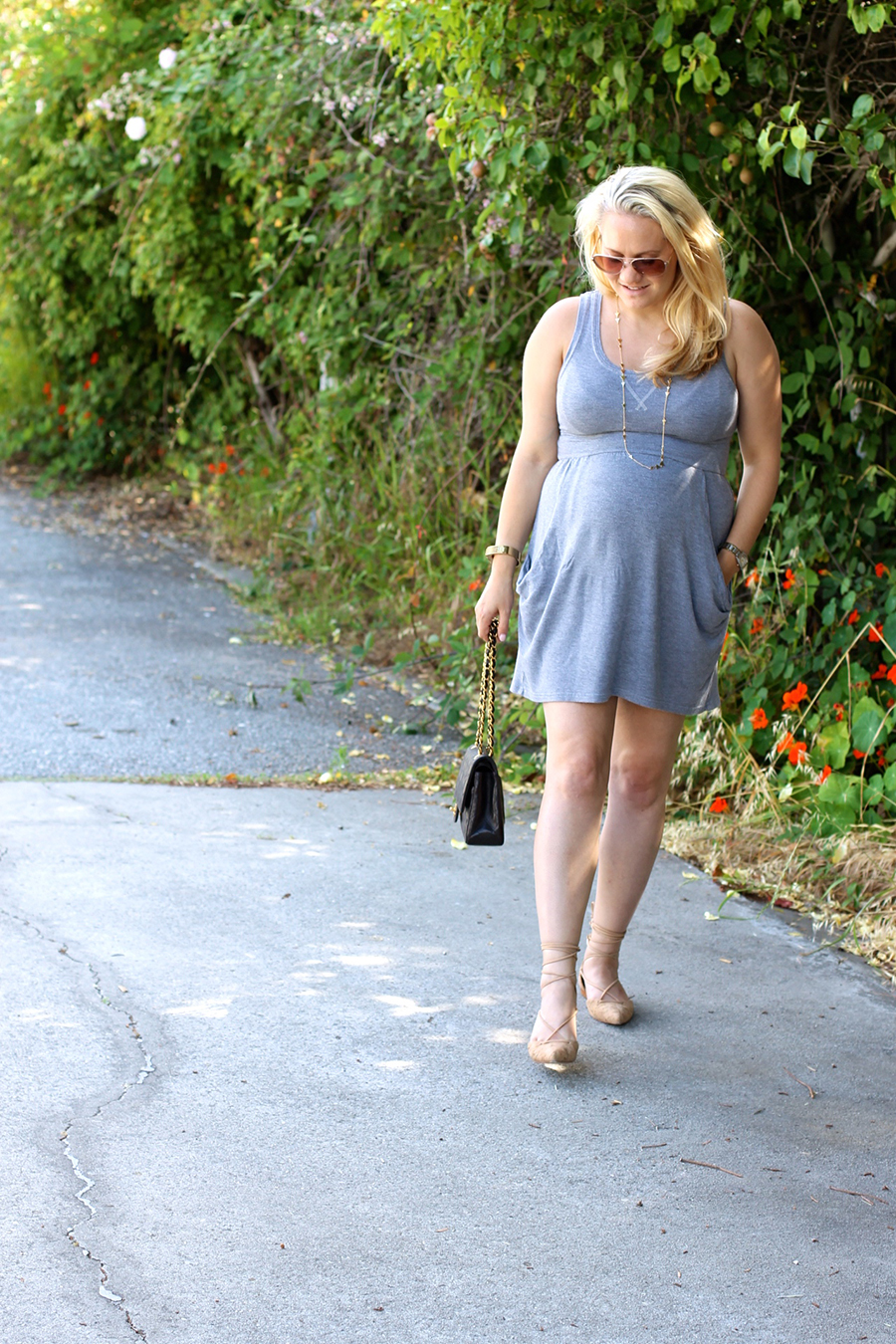 Grey Jersey Mini Dress-Maternity Style-Outfit Inspiration-Pregnancy Style-Have Need Want 4