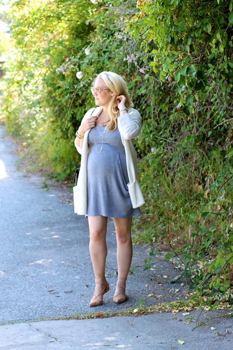 Grey Jersey Mini Dress-Maternity Style-Outfit Inspiration-Pregnancy Style-Have Need Want