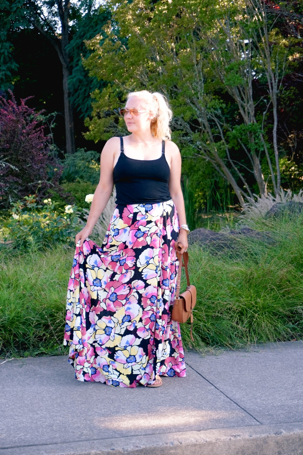 Hot Tropics Floral Maxi Skirt-Free People Floral Maxi Skirt-Outfit Inspiration-Wine Country-Mom Style-Nursing Top-Have Need Want 5