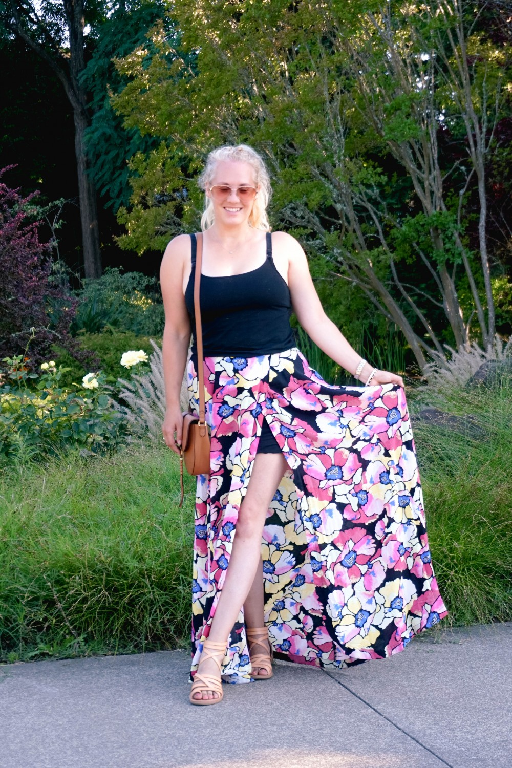 Hot Tropics Floral Maxi Skirt-Free People Floral Maxi Skirt-Outfit Inspiration-Wine Country-Mom Style-Nursing Top-Have Need Want