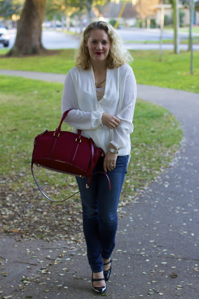 front-tuck blouse, fab found, bargain shopper, outfit inspiration