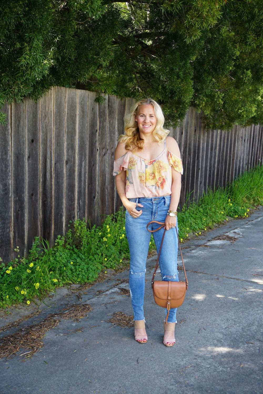 Joie Cold Shoulder Floral Blouse-Spring Style-Flutter Sleeve Blouse-Outfit Inspiration-Have Need Want 10