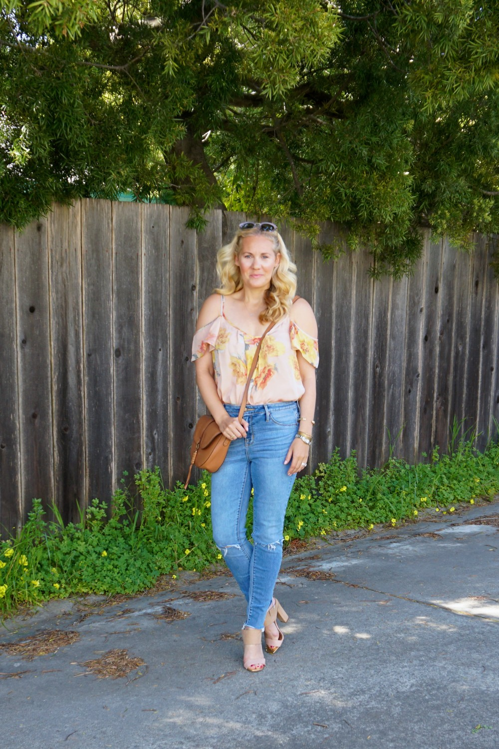 Joie Cold Shoulder Floral Blouse-Spring Style-Flutter Sleeve Blouse-Outfit Inspiration-Have Need Want 12
