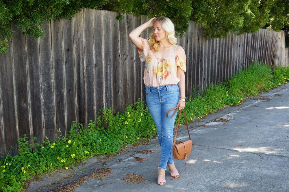 Joie Cold Shoulder Floral Blouse