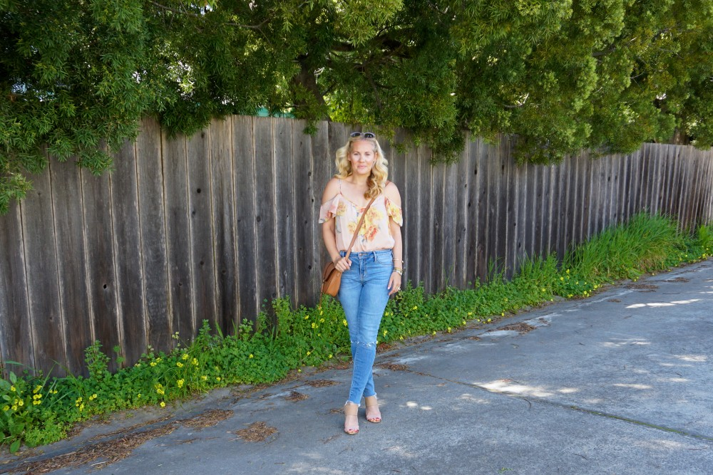 Joie Cold Shoulder Floral Blouse-Spring Style-Flutter Sleeve Blouse-Outfit Inspiration-Have Need Want 4
