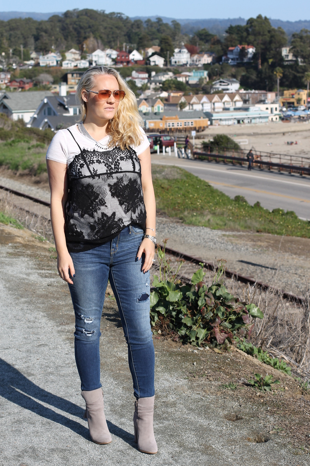 Black t shirt target - Black T Shirt Target Lace Cami Tshirt Target Style Outfit Inspiration Fashion