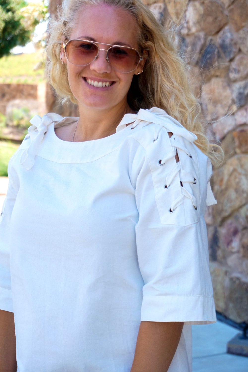 Lace-Up White Denim Dress-JOA Denim Dress-Summer Style-Bijou on the Park-Have Need Want-Outfit Inspiration-Mom Style 12