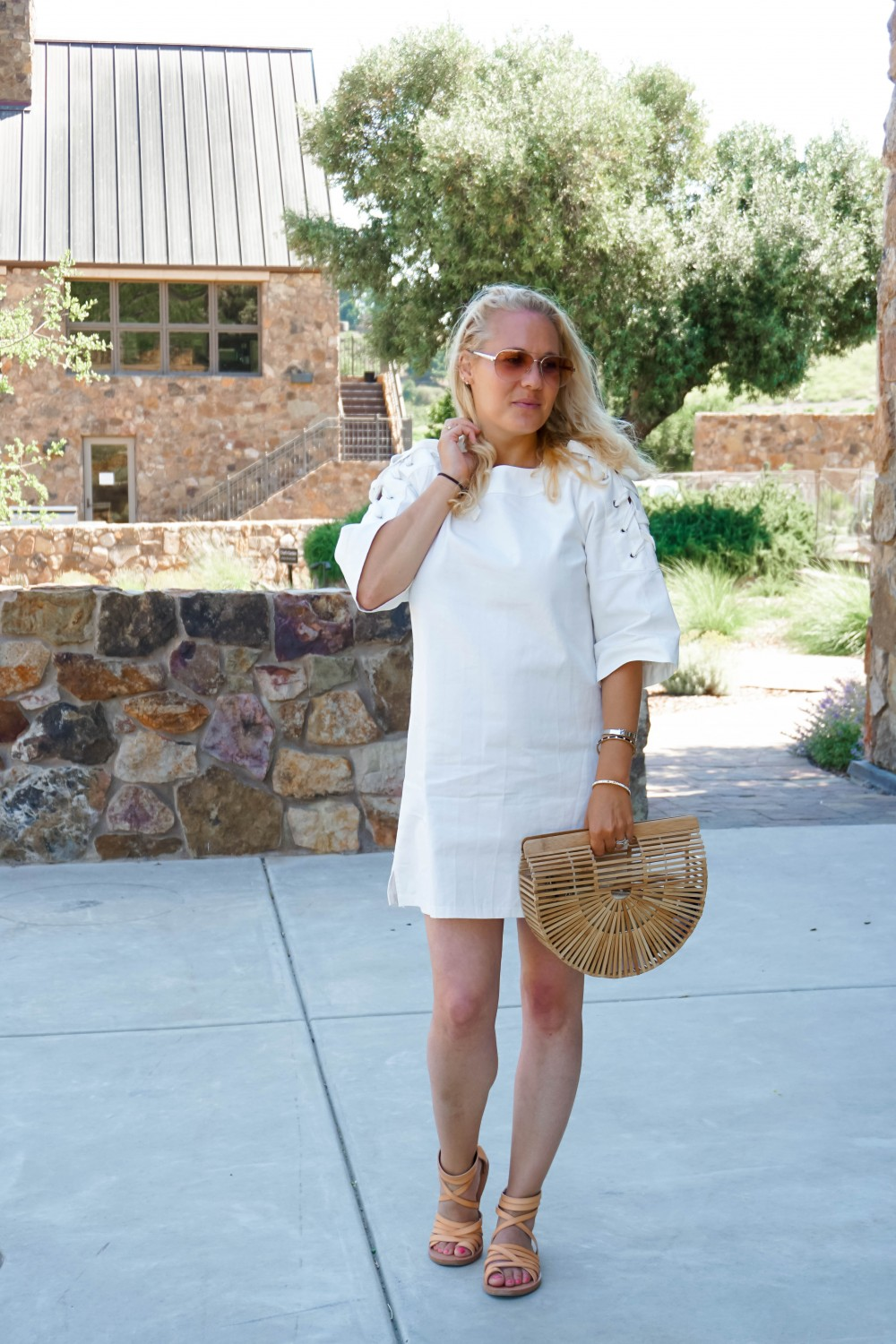 Lace-Up White Denim Dress-JOA Denim Dress-Summer Style-Bijou on the Park-Have Need Want-Outfit Inspiration-Mom Style 7