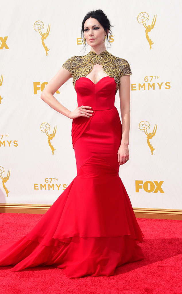 Laura Prepon-Christian Siriano-Emmy's Red Carpet-2015 Emmys-Red Carpet Arrivals-Best Dressed